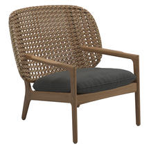 Kay Low Back Lounge Chair Harvest Weave- Blend Coal