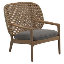 Kay Low Back Lounge Chair Harvest Weave- Fife Rainy Grey
