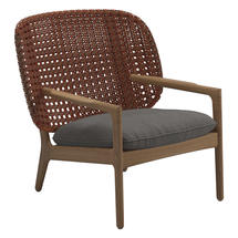 Kay Low Back Lounge Chair Copper Weave- Granite