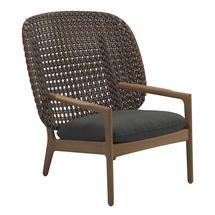 Kay High Back Lounge Chair Brindle Weave- Blend Coal