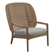 Kay High Back Lounge Chair Harvest Weave- Seagull