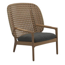 Kay High Back Lounge Chair Harvest Weave- Blend Coal