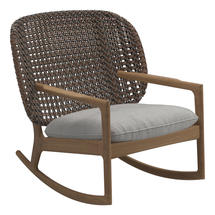 Kay Low Back Rocking Chair Brindle Weave- Seagull
