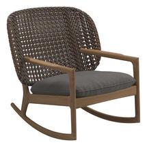 Kay Low Back Rocking Chair Brindle Weave- Granite