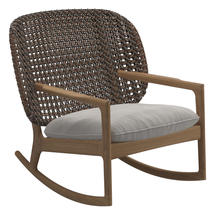 Kay Low Back Rocking Chair Brindle Weave- Blend linen