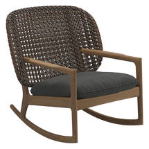 Kay Low Back Rocking Chair Brindle Weave- Blend Coal