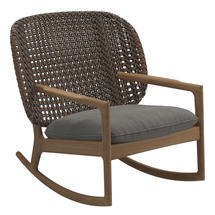 Kay Low Back Rocking Chair Brindle Weave- Fife Rainy Grey
