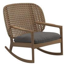 Kay Low Back Rocking Chair Harvest Weave- Granite
