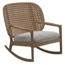Kay Low Back Rocking Chair Harvest Weave- Blend linen