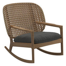 Kay Low Back Rocking Chair Harvest Weave- Blend Coal