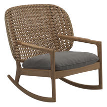 Kay Low Back Rocking Chair Harvest Weave- Fife Rainy Grey