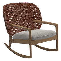 Kay Low Back Rocking Chair Copper Weave- Blend linen