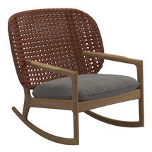 Kay Low Back Rocking Chair Copper Weave- Fife Rainy Grey