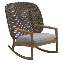Kay High Back Rocking Chair Brindle Weave- Seagull