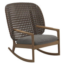 Kay High Back Rocking Chair Brindle Weave- Fife Rainy Grey