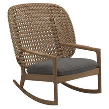 Kay High Back Rocking Chair Harvest Weave- Granite