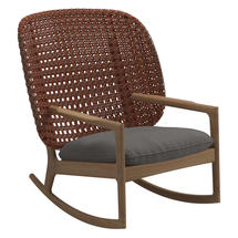 Kay High Back Rocking Chair Copper Weave- Granite