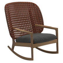 Kay High Back Rocking Chair Copper Weave- Blend Coal