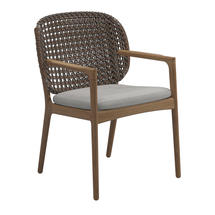 Kay Dining Chair with Arms Brindle Weave- Seagull