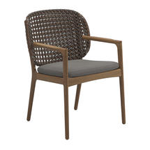 Kay Dining Chair with Arms Brindle Weave- Fife Rainy Grey