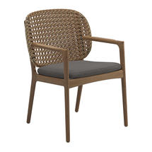 Kay Dining Chair with Arms Harvest Weave- Granite