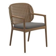 Kay Dining Chair with Arms Harvest Weave- Fife Rainy Grey