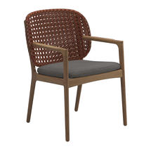 Kay Dining Chair with Arms Copper Weave- Granite