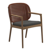 Kay Dining Chair with Arms Copper Weave- Blend Coal
