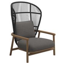 Fern High Back Lounge Chair Meteor / Raven - Granite