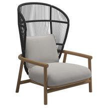 Fern High Back Lounge Chair Meteor / Raven - Blend Linen