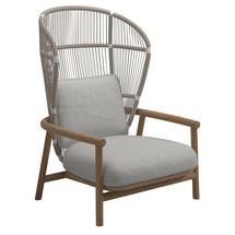 Fern High Back Lounge Chair White / Dune - Seagull