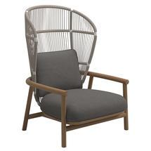 Fern High Back Lounge Chair White / Dune - Granite
