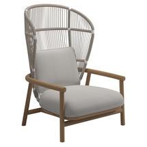 Fern High Back Lounge Chair White / Dune - Blend Linen