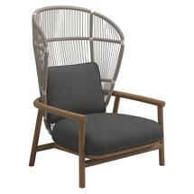 Fern High Back Lounge Chair White / Dune - Blend Coal