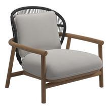 Fern Low Back Lounge Chair Meteor / Raven - Blend Linen