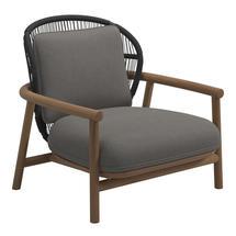 Fern Low Back Lounge Chair Meteor / Raven - Fife Rainy Grey