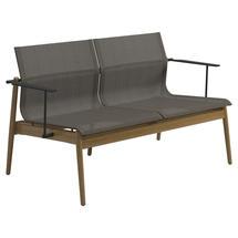 Sway Teak 2-Seater Sofa - Meteor / Granite Sling