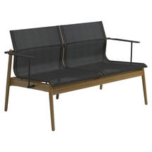 Sway Teak 2-Seater Sofa - Meteor / Anthracite Sling