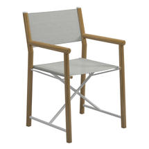 Voyager Directors Chair  - White / Seagull Sling