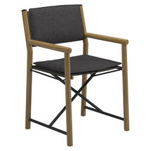 Voyager Directors Chair with Integral Padded Cushions  - Meteor / Granite Sling