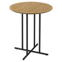 Whirl 90cm Round Bar Table Teak  - Meteor