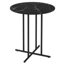 Whirl 90cm Round Bar Table Nero Ceramic  - Meteor
