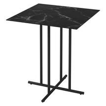 Whirl 86.5cm Square Bar Table Nero Ceramic  - Meteor