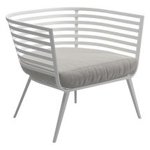 Vista Lounge Chair White - Blend Linen
