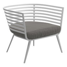 Vista Lounge Chair White - Fife Rainy Grey