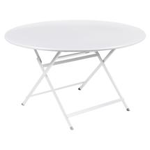 Caractere Round 128cm Table - Cotton White