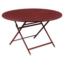 Caractere Round 128cm Table - Chilli