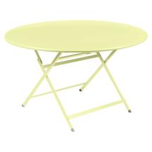 Caractere Round 128cm Table - Frosted Lemon