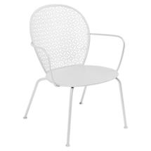 Lorette Low Armchair  - Cotton White