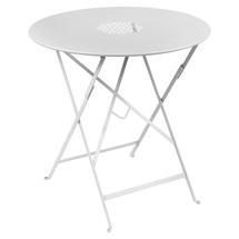 Lorette Folding 77cm Round Table - Cotton White